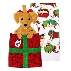 St. Nicholas Square® Dog Tie-Top Kitchen Towel 2-pack