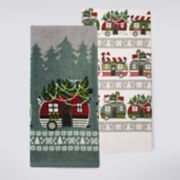 St. Nicholas Square® Christmas Camper Kitchen Towel 2-pack