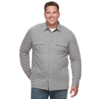 Big & Tall Croft & Barrow® Classic-Fit Quilted Shirt Jacket