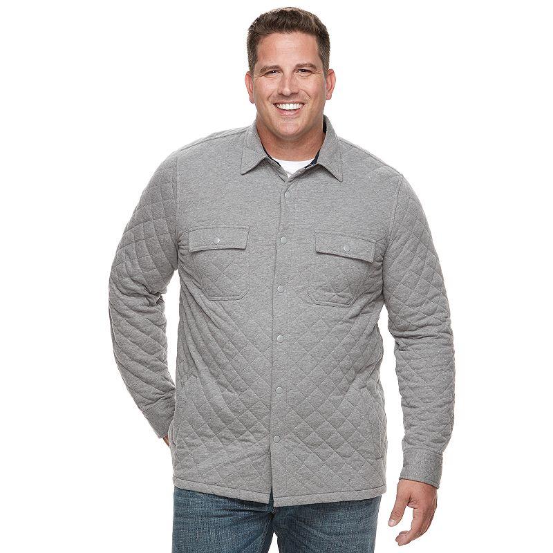 Big Tall Croft Barrow Classic Fit Quilted Shirt Jacket Mens
