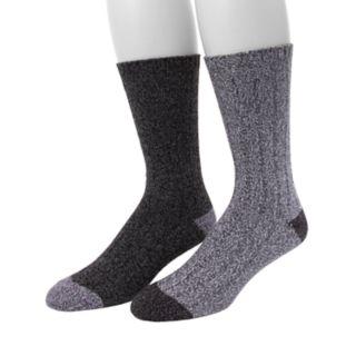 Men's Climatesmart by Cuddl Duds® 2-pack Twist Rib Crew Socks