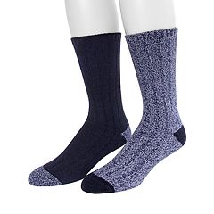 Men's Climatesmart by Cuddl Duds® 2-pack Twist Rib Crew Socks