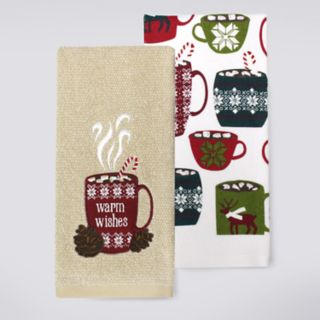 St. Nicholas Square® Warm Wishes Kitchen Towel 2-pack