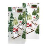 St. Nicholas Square® Snowman Toss Kitchen Towel 2-pack