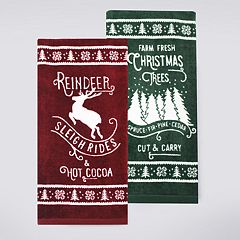 St. Nicholas Square® Reindeer & Hot Cocoa Kitchen Towel 2-pack