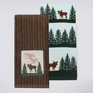 St. Nicholas Square® Silent Night Kitchen Towel 2-pack