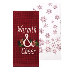 St. Nicholas Square® Warmth & Cheer Kitchen Towel 2-pack