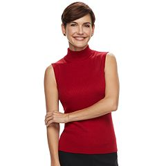 Women's Dana Buchman Mockneck Sleeveless Top
