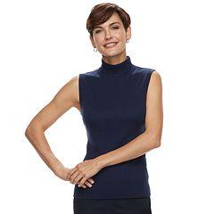 Women's Dana Buchman Mockneck Sleeveless Top