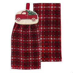 St. Nicholas Square® Truck Tie-Top Kitchen Towel 2-pack