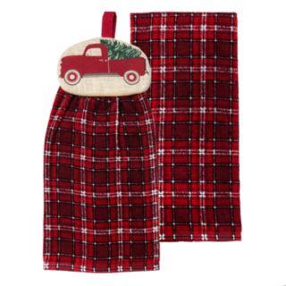 St. Nicholas Square® Truck Tie-Top Kitchen Towel 2-pack