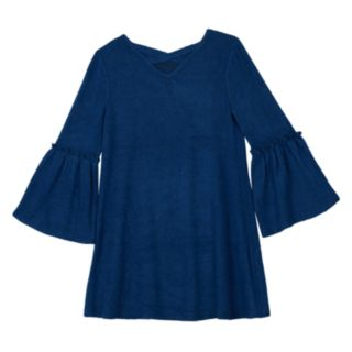 Girls 7-16 and Plus Size IZ Amy Byer Ruffled Bell Sleeve Dress with Necklace