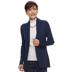 Women's Dana Buchman Ribbed Cardigan Sweater