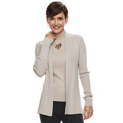 Women's Dana Buchman Ribbed Cardigan Sweater
