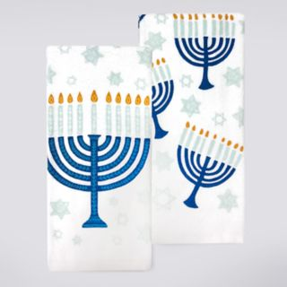 St. Nicholas Square® Menora Kitchen Towel 2-pack