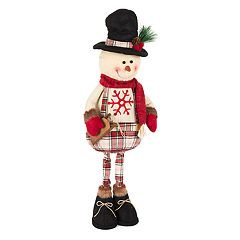 Snowflake Plaid 27' Standing Snowman Floor Decor