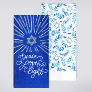 St. Nicholas Square® Peace, Love & Light Kitchen Towel 2-pack