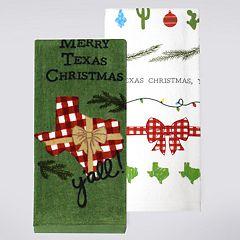 St. Nicholas Square® Texas Christmas Kitchen Towel 2-pack