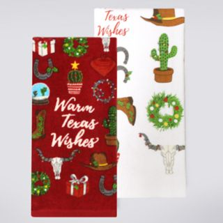 St. Nicholas Square® Warm Texas Wishes Kitchen Towel 2-pack