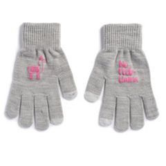 Women's SO® Llama 'No Prob-Llama' Tech Knit Gloves