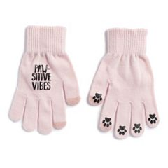 Women's SO® 'Paw-Sitive Vibes' Tech Knit Gloves