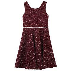 Girls 7-16 Speechless Allover Embellished Lace Skater Dress