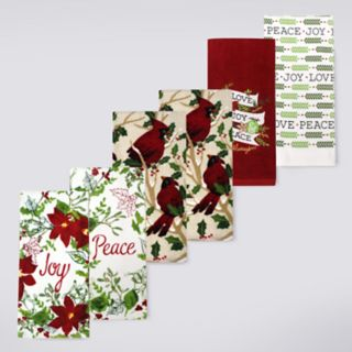 St. Nicholas Square® Traditional Cardinal Kitchen Towel 6-pack