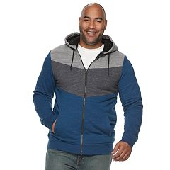Big & Tall Urban Pipeline™ Colorblock Sherpa-Lined Hoodie