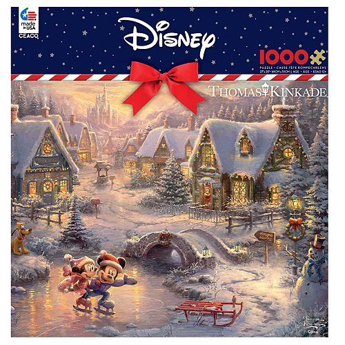 Disney Mickey /& Minnie Mouse Winter Christmas Poster Available in 5 Sizes