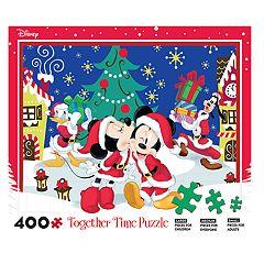 Disneys Mickey Mouse Minnie 400 Piece Christmas Puzzle