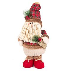 Plaid 14' Standing Santa Floor Decor