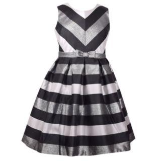 Girls 7-16 & Plus Size Bonnie Jean Sleeveless Mitered Dress