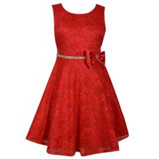 Girls 7-16 & Plus Size Bonnie Jean Allover Lace Sleeveless Dress