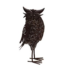 Solar Powered LED Owl Garden Decor