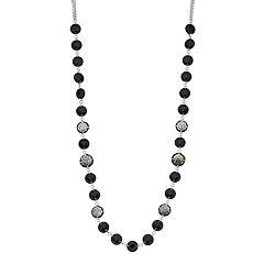 Napier Black Circle Long Necklace