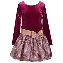 Girls 7-16 & Plus Size Bonnie Jean Plaid Taffeta Drop Waist Dress