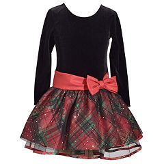 Girls 7-16 & Plus Size Bonnie Jean Plaid Taffeta Drop Waist Dress