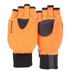 Men's Huntworth Blaze Orange Convertible Flip-Top Mittens