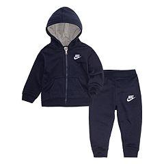 Baby Boy Nike Zip Hoodie & Jogger Pants