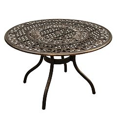 Traditional Bronze Finish Indoor  / Outdoor Dining Table