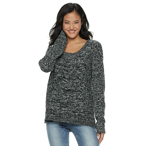 Juniors So Cable Knit Sweater