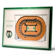 Boston Celtics 3D Stadium Wall Art