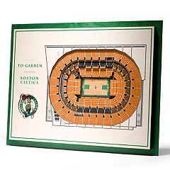 Boston Celtics 3D Stadium Wall Art
