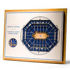 Golden State Warriors 3D Stadium Wall Art