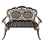 Traditional Ornate Indoor / Outdoor Loveseat Bench