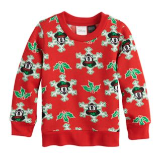 Disney's Mickey Mouse  Toddler Boy Snowflake Pullover Sweater