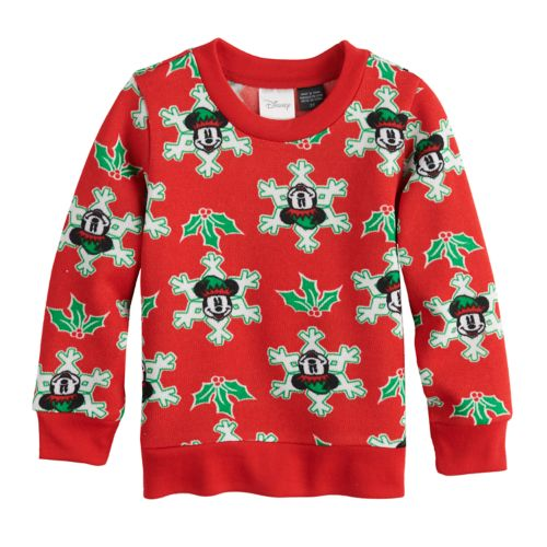 Disneys Mickey Mouse Toddler Boy Snowflake Pullover Sweater