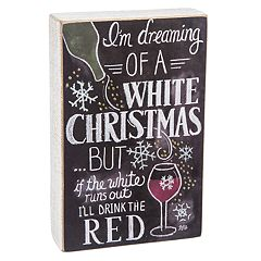 'Dreaming of a White Christmas' Wine Box Sign Art