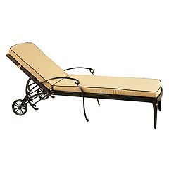 Indoor / Outdoor Rolling Adjustable Chaise Lounge Chair