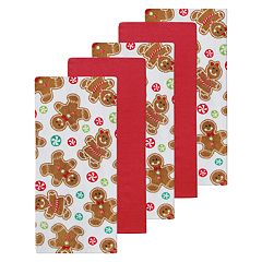 St. Nicholas Square® Gingerbread Kitchen Towel 5-pack